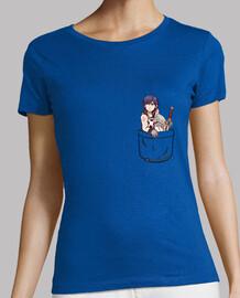 camicia a tasca in cromo - womans
