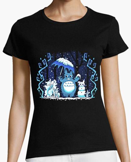 T-shirt camicia amici della foresta womans inverno