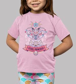 camicia bambini principessa acciaio