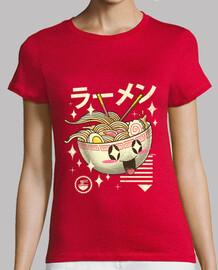 camicia da donna di kawaii ramen