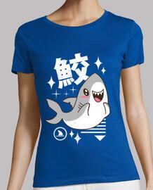 camicia da squalo kawaii da donna