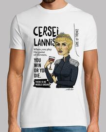 camicia da t-shirt da uomo cersei