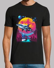 camicia da uomo squalo rad