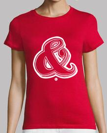 camicia della ragazza -ampersand