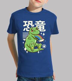 camicia kawaii t-rex per bambini