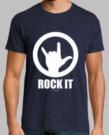 camicia per ragazzi rock di bianco