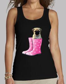 camicia taglio lungo carlino e stivali con acqua rosa