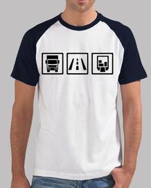 camionista trasporto merci su strada