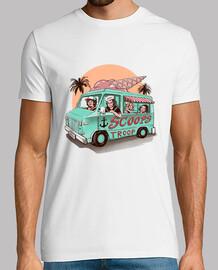 camionnette troupe de camion de crème glacée pour hommes