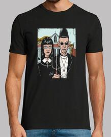camisa americana goth para hombre