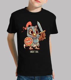 camisa animal del búho del caballero del búho - camisa de los niños