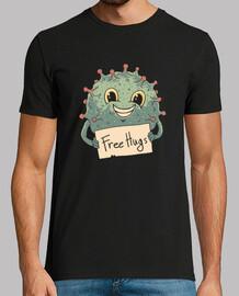 camisa de abrazos de virus gratis para hombre