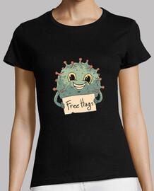 camisa de abrazos de virus gratis para mujer