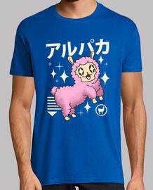camisa de alpaca kawaii para hombre