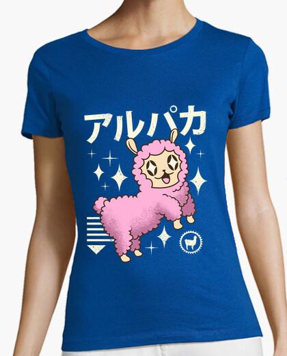 Camiseta camisa de alpaca kawaii para mujer