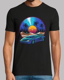 camisa de banda sonora de vinilo retro para hombre