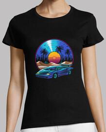 camisa de banda sonora de vinilo retro para mujer