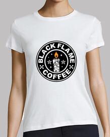 camisa de café de llama negra para mujer