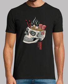 camisa de calavera ramen para hombre