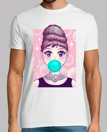 camisa de chicle kawaii para hombre