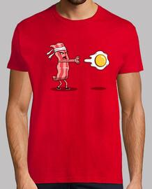 camisa de combate de tocino para hombre