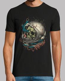 camisa de decaimiento del espacio para hombre