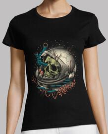camisa de decaimiento del espacio para mujer