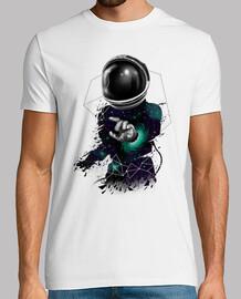 camisa de deformación espacial para hombre