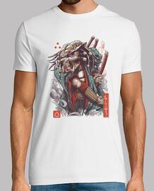 camisa de depredador samurai para hombre