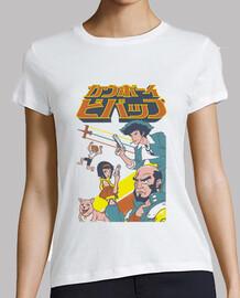 camisa de escuadrón vaquero del espacio para mujer