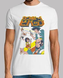camisa de escuadrón vaquero espacial para hombre