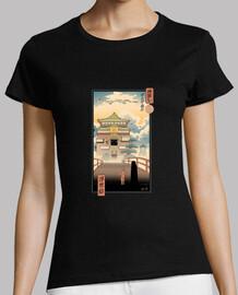 camisa de espíritu ukiyo-e para mujer