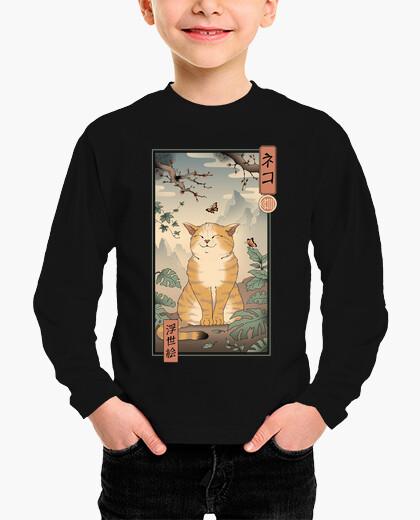Ropa infantil camisa de gato edo niños