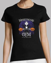 camisa de gimnasio de ciudad de halloween para mujer