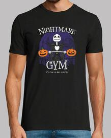 camisa de gimnasio de la ciudad de halloween para hombre