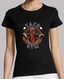 camisa de gimnasio taco retro mujeres