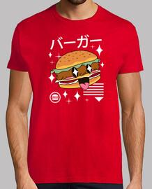 camisa de hamburguesa kawaii para hombre