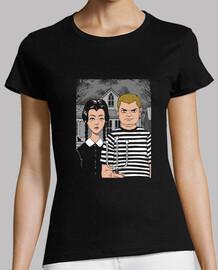 camisa de hermanos góticos para mujer
