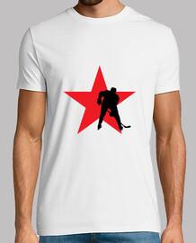 camisa de hockey hombre, blanco, de alta calidad
