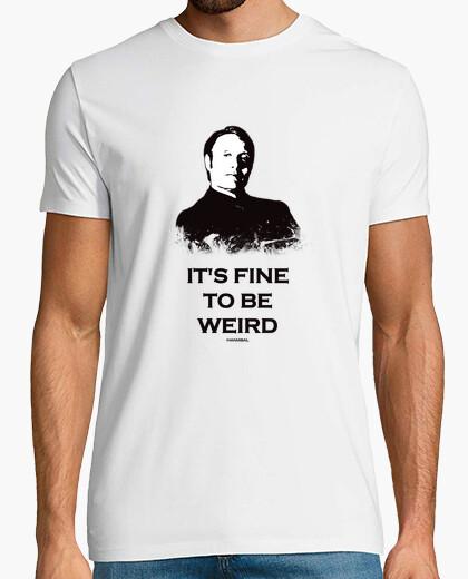 Camiseta Camisa de hombre hannibal: que está bien para ser raro
