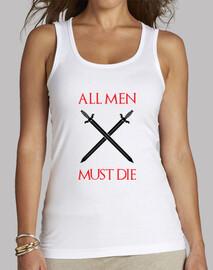 camisa de juego de tronos: todos los hombres han de morir