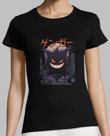 camisa de kaiju fantasma mujeres