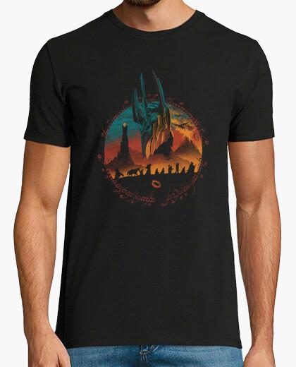 Camiseta camisa de la búsqueda de la tierra media para hombre