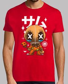 camisa de la calabaza del kawaii para hombre