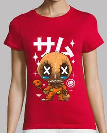 camisa de la calabaza del kawaii para mujer