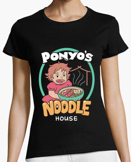 Camiseta camisa de la casa de los tallarines de los ponyos