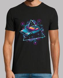 camisa de la máquina de tiempo de onda retro para hombre