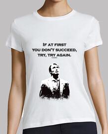 Camisa de la mujer hannibal: si al principio no tienes éxito, intentar, intentar de nuevo.