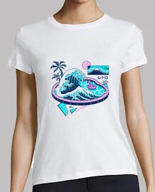 camisa de la piscina de la onda del vapor para mujer