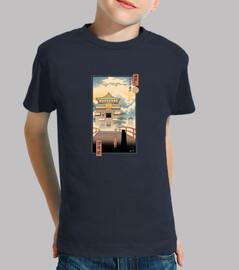 camisa de los espíritus ukiyo-e niños